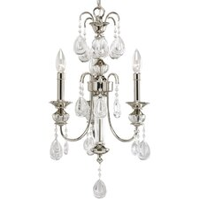 Thomasville Noir  Chandelier in Polished Nickel