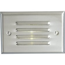 Everlume Mini Horizontal Step or Wall Louvered Light in Brushed Nickel