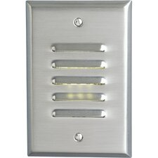 Everlume Mini Vertical Step or Wall Louvered Light in Brushed Nickel