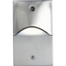 Mini Decorative Vertical Step or Wall light in Brushed Nickel