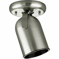 "50w Brushed Nickel  Round Back Ceiling Mount Directional (5"" x 5"")"