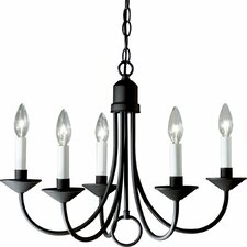<strong>Progress Lighting</strong> Brushed Nickel Light 5 Light Candle Light Chandelier