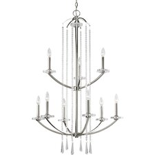 Nissé 9 Light Candle Chandelier