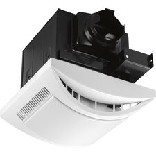1 Light Bathroom Fans with White Acrylic Diffuser