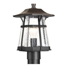 "1 Light 13.38"" Outdoor Post Lantern"