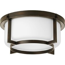 <strong>Progress Lighting</strong> Dynamo 2 Light Flush Mount