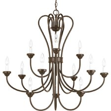 <strong>Progress Lighting</strong> Heart 12 Light Chandelier