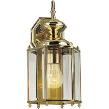 Hexagonal Brass Guard Incandescent Outdoor Lantern (Polished Brass)