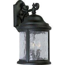 <strong>Progress Lighting</strong> Ashmore Old World Style 3 Light Cast Outdoor Wall Lantern