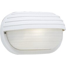Polycarbonate Oval Incandescent 1 Light Outdoor Wall Lantern with Hood