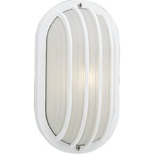 Polycarbonate Oval Incandescent 1 Light Outdoor Wall Lantern with Grill