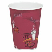 <strong>Solo Cups</strong> Company Bistro Design Hot Drink Cups, Maroon, 50/Pack