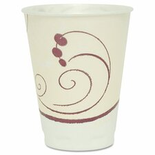 <strong>Solo Cups</strong> Company Symphony Design Trophy Foam Hot/Cold Drink Cups, 12 Oz, 100/Pack