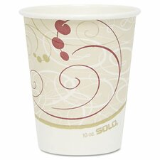 Company Symphony Design Hot Cups, 10 Oz., 1000/Carton