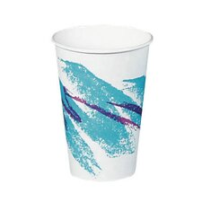Jazz Hot Paper Cups in White / Green / Purple