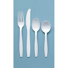 100/Box Heavyweight Polystyrene Teaspoons in White