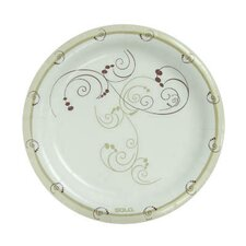 "8 1/2"" Clay-Coated Round Paper Plates Symphony Design"