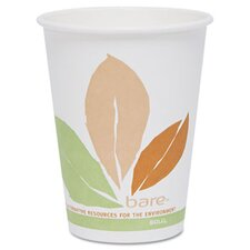 Company Bare Pla Hot Cups with Leaf Design, 12 Oz., 300/Carton