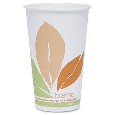 Company Bare Pla Hot Cups with Leaf Design, 16 Oz.,300/Carton
