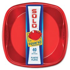 Squared Plastic Plate (Set of 320)