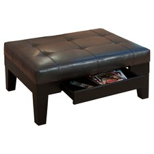 Tale Leather Storage Ottoman