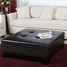 Darlington Leather Ottoman in Brown