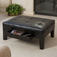 Chatham Leather Cocktail Ottoman
