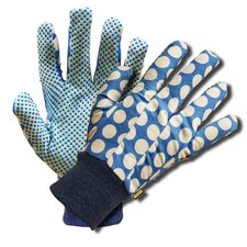 Ladies Floral Gloves with PVC Dots