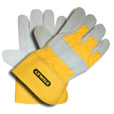 <strong>Stanley Tools</strong> Split Leather Palm Gloves with Fleece/Foam Lining