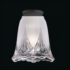 Clear and White Frosted Glass Shade