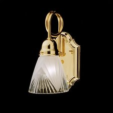 Trumpet Arm 1 Light Wall Sconce