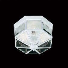 3 Light Beveled Flush Mount