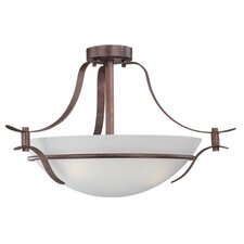 Hampshire 3 Light Semi Flush Mount