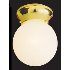 1 Light Glass Shade Flush Mount