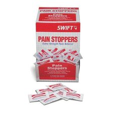 <strong>Swift First Aid</strong> 2 Pack Pain Stoppers Extra Strength Pain Reliever (250 Packs Per Box, 6 Boxes Per Case)