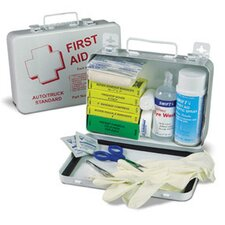 "Medium Truck Kit First Aid Kit In 9 1/16"" X 6 5/16"" X 2 3/8"" Weather Proof Box"