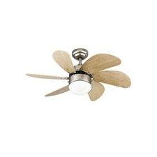 "30"" Turbo Swirl 6 Blade Ceiling Fan"