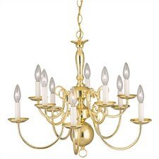 Williamsburg Style 10 Light Chandelier
