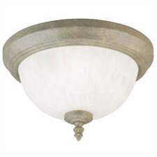 1 Light Flush Mount - Frosted Alabaster Glass