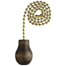 Walnut Wood Knob Ceiling Fan Pull Chain (Set of 6)