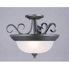 Pine Creek 2 Light Semi Flush Mount