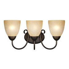<strong>Westinghouse Lighting</strong> Chapel Hill 3 Light Wall Sconce