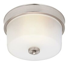 <strong>Westinghouse Lighting</strong> Sylvestre 1 Light Flush Mount