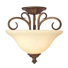 <strong>Westinghouse Lighting</strong> Regal Springs 2 Light Semi-Flush Mount