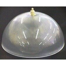 "8"" Acrylic Prismatic Dome Clip-On Shade"