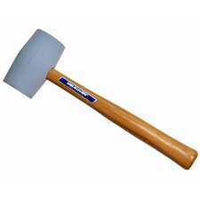 "18 oz. Non-Marring Rubber Mallet with 10.5"" Hickory Handle"