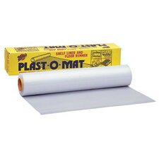 "Plast-O-Mat® Ribbed Floor Runners - 30""x100' roll clear floor runner plast-o-mat"