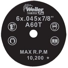 "Weiler - Vortec Pro Type 1 Thin Cutting Wheels 5""X1/16"" Cut Off Wheel: 804-56118 - 5""x1/16"" cut off wheel"