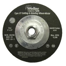 "Weiler - Vortec Pro Type 27 Pipeline - Cutting & Light Grinding Wheels 4-1/2"" X 1/8"" Type 27 Cut&Grind A24R: 804-56429 - 4-1/2"" x 1/8"" type 27 cut&grind a24r"