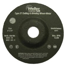 "Weiler - Vortec Pro Type 27 Pipeline - Cutting & Light Grinding Wheels 5"" X 1/8""  A24T  7/8"" Ah: 804-56428 - 5"" x 1/8""  a24t  7/8"" ah"
